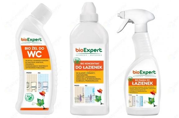bioExpert Zestaw do łazienki: Żel WC + Koncentrat + Pianka