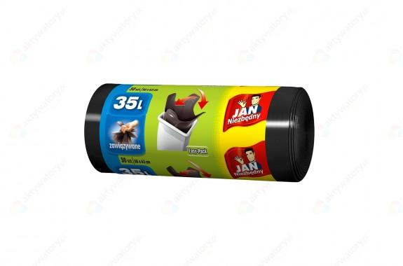 Jan Niezbędny Worki na śmieci Easy Pack czarne 35l zawiązywane 30 szt