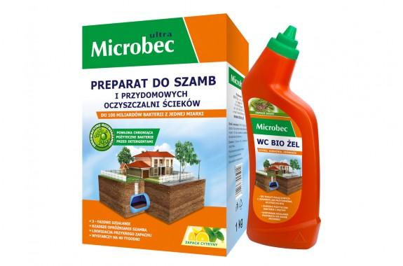 Microbec Ultra 1 kg Cytrynowy + Żel WC 500 ml Gratis