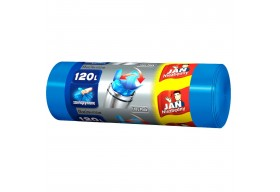 Jan Niezbędny Worki na śmieci Easy Pack niebieskie 120l zawiązywane 15 szt