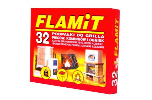 Podpałka biała FLAMiT 32 kostki
