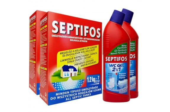 Septifos 2,4 kg + 2 x Żel WC 750ml