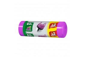 Jan Niezbędny Worki związywane zapachowe fioletowe 60L 20 szt.