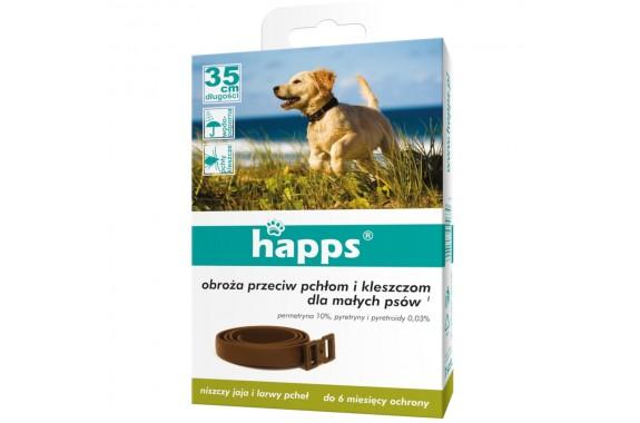 HAPPS obroża p/pchłom i kleszczom mały pies 1