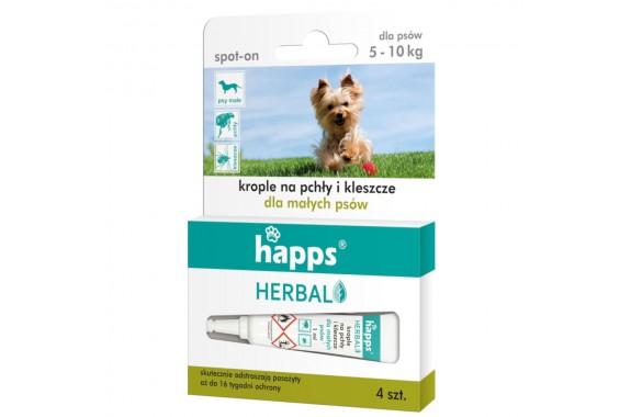 HAPPS Herbal krople pchłom i kleszczom mały pies