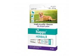 HAPPS Herbal krople p/pchłom i kleszczom duży pies