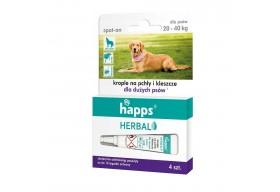 HAPPS Herbal krople przeciw pchłom i kleszczom duży pies