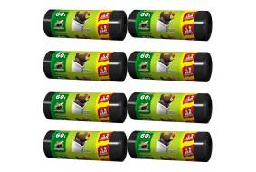 Jan Niezbędny Worki HD Easy-pack związywane 60l 26 szt. x8