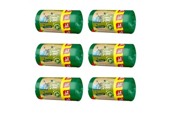 Zestaw Jan Niezbędny Worki Zielony Dom związywane 35L 6x 22szt.