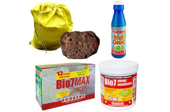 Bio7 Max 2kg + Choc + Drenaż udrażnianie + Puzzolana