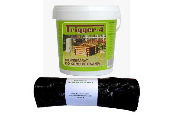 Trigger-4 do kompostowania 1kg + Worek 120 L
