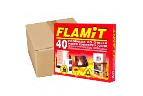 Podpałka grillowa biała FLAMiT 40 kostek x24 opakowań KARTON