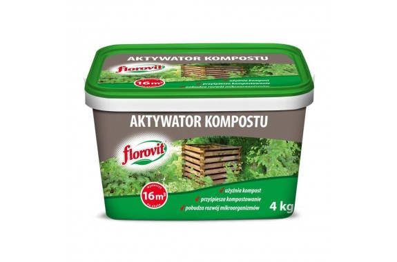 FLOROVIT Aktywator Kompostu Kompostowanie Wiadro 4kg