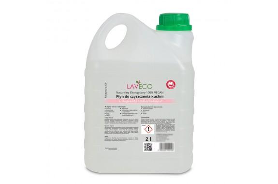LAVECO Naturalny płyn do czyszczenia kuchni bergamotka zielona herbata 2 L