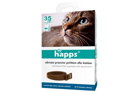 HAPPS Obroża przeciw pchłom i kleszczom dla kotów