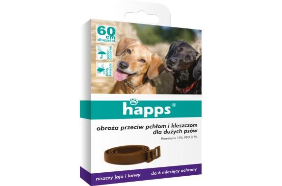 HAPPS obroża p/pchłom i kleszczom duży pies 60cm
