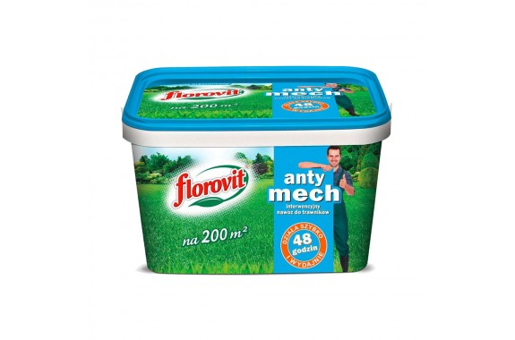 Nawóz do Trawników Anty Mech Trawnik FLOROVIT Interwencyjny 4 kg