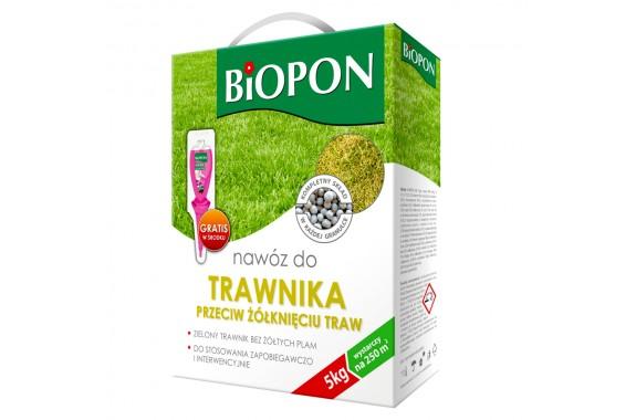 Biopon nawóz do trawnika przeciw żółknięciu 5 kg