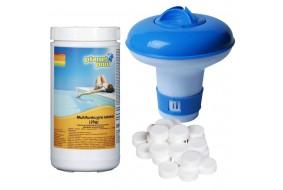Zestaw Tabletki Chemochlor Multifunkcyjne T (20g) 1 Kg + Boja Dozująca Mała