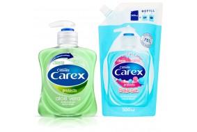 CAREX Antybakteryjne mydło w płynie Aloe Vera 250 ml + Zapas 500 ml