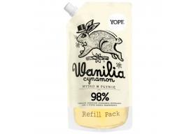 YOPE Zapas mydła w płynie Wanilia Cynamon Refill 500 ml