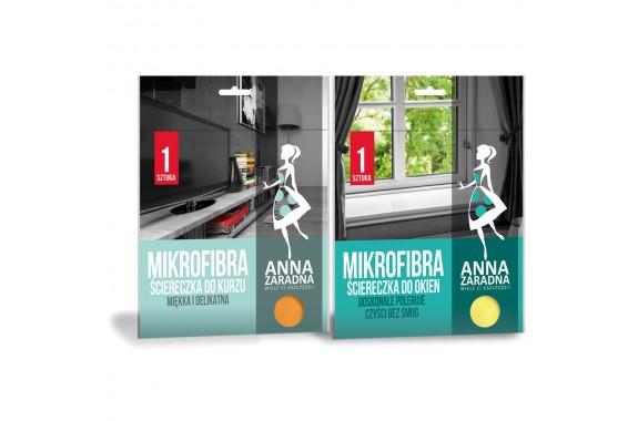 Anna Zaradna Zestaw ściereczek mikrofibra do kurzu i okien
