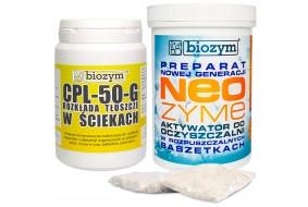 Neozyme bakterie w saszetkach do oczyszczalni + odtłuszczacz CPL