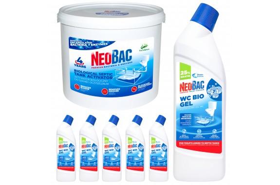 NeoBac 5 kg + 6 x WC Bio Gel 1000 ml