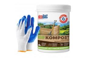 NeoBac BIO KOMPOST Biologiczny Aktywator Kompostu 1kg + rękawice