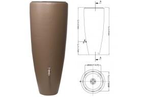 Garantia zbiornik na deszczówkę 2w1 Taupe Szary Brąz 300L z wkładem