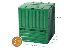 Garantia Kompostownik ECO King 400L zielony pojemnik do kompostowania