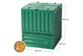 Garantia Kompostownik ECO King 600L zielony pojemnik do kompostowania