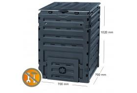 Garantia Kompostownik ECO Master 450L czarny pojemnik do kompostowania