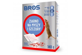 Bros ziarno na myszy i szczury 140g bezpieczne dozowanie