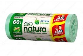 Jan Niezbędny Worki na śmieci Eko Natura 60l zawiązywane 20 szt