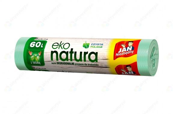 Jan Niezbędny Worki na śmieci z taśmą Eko Natura 60l 10 szt